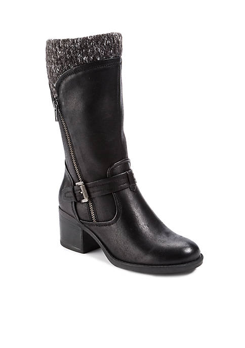BareTraps Weslin Mid-Shaft Faux Leather Boots