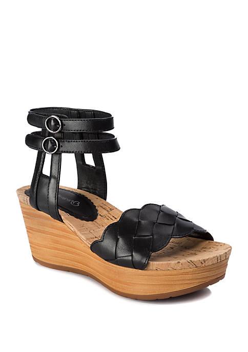 BareTraps Melyssa Double Strap Wedge Sandals