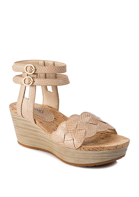BareTraps Melyssa Double Strap Wedge Sandals