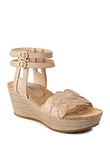 4aedb6dea51b ... BareTraps Melyssa Double Strap Wedge Sandals