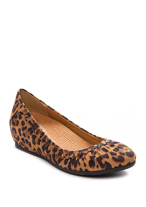 Norma Leopard Wedge Flats