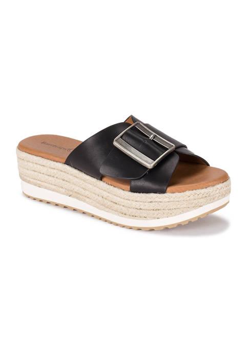 BareTraps Walta Wedge Slide Sandals
