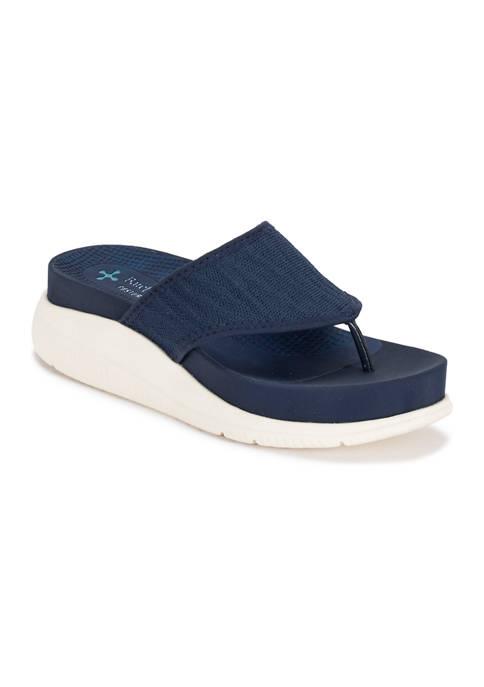BareTraps Sariah Posture Plus Wedge Thong Sandals