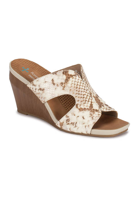 BareTraps Yinifer Posture Plus Wedge Dress Sandals