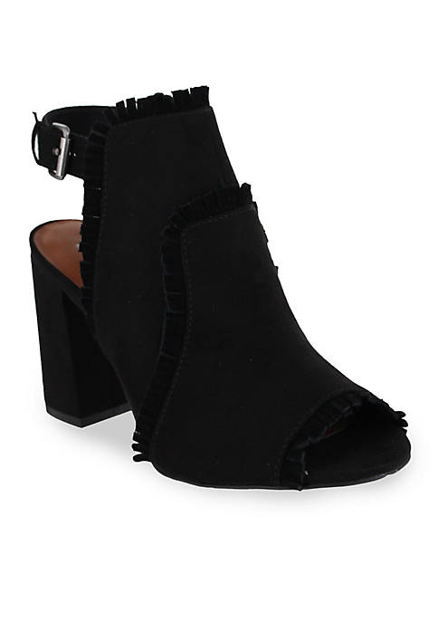 MIA Urban Open Toe Sling Back Block Heel