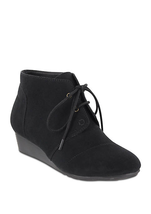 Sarah Lace Up Wedge Shootie - Wide Width