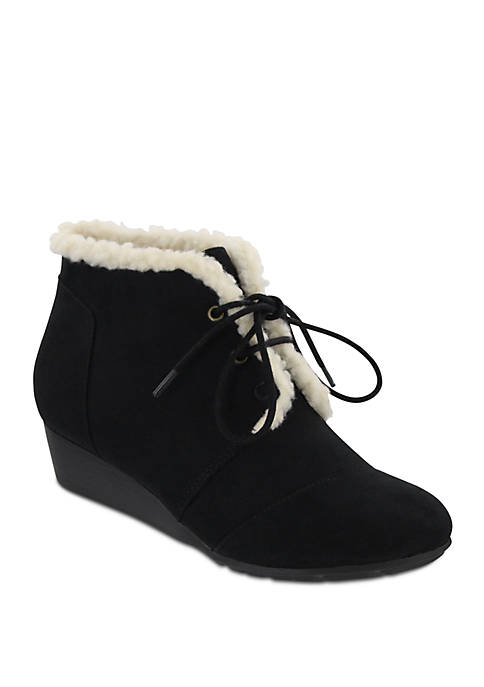 Sarah Sherling Lace Up Wedge Shootie