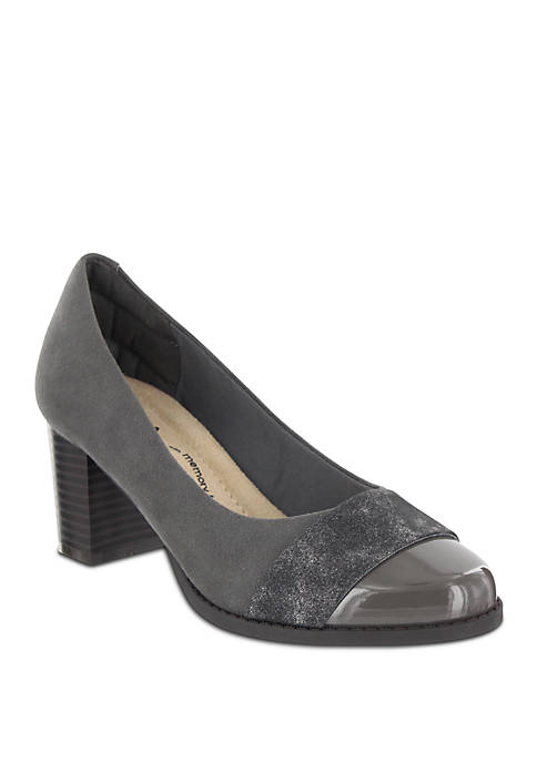 MIA Amore Ivaa Patent Toe Single Strap Pump