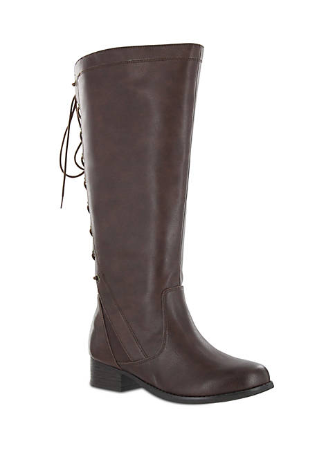 Lilianna Lace Up Knee Boot - Wide Width