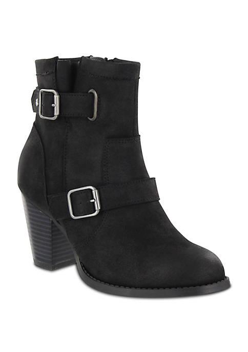 Elana Buckle Ankle Boot - Wide Width