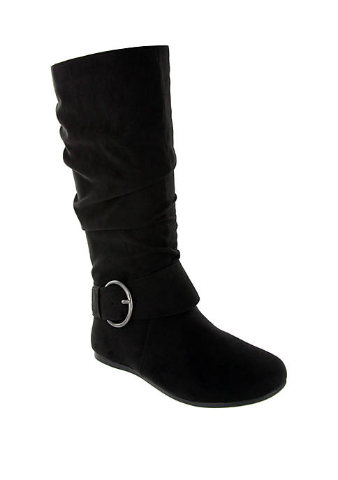 Celsa Circle Buckle Midcalf Boot - Wide Width