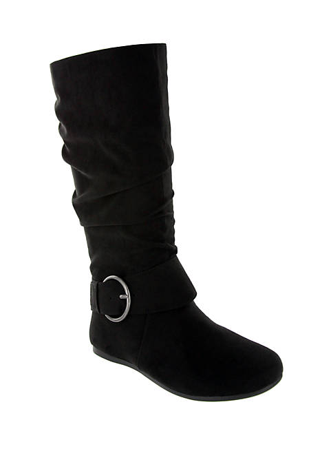 Celsa Circle Buckle Midcalf Boot