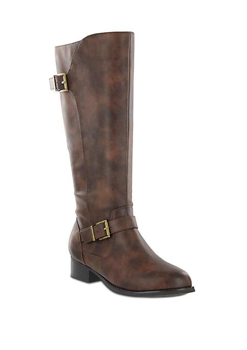 Lola Buckle Knee High Boot