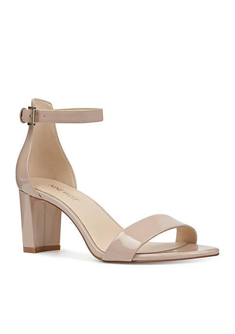 Pruce Mid Heel Ankle Strap Sandal