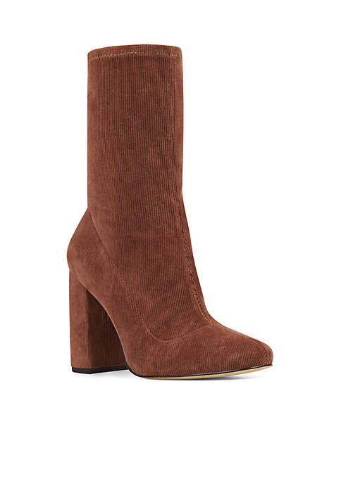 Nine West Cal Corduroy Booties (Brown Corduroy)
