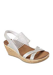 High Teal Wedge Sandal