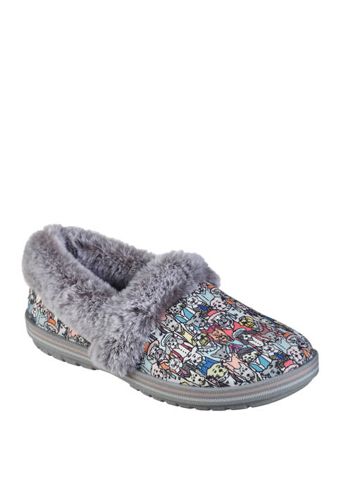 BOBS from Skechers Too Cozy Dressy Dog Slippers