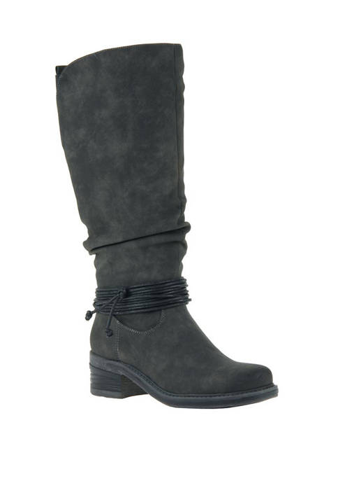 MADELINE Cranberry Mid Shaft Boots