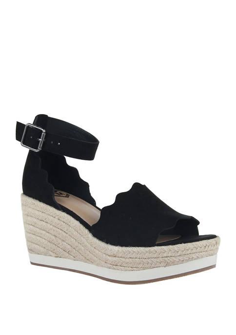 Phantastes Platform Wedge Espadrille Sandals
