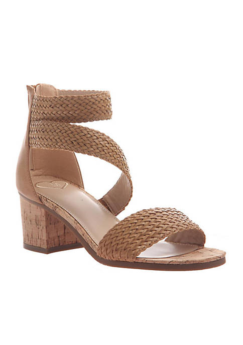 MADELINE Skyscraper Woven Strap Heeled Sandals