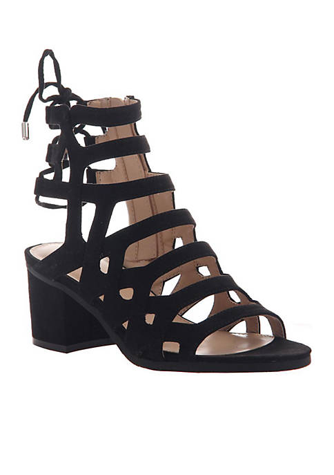 Warrior Lace-Up Caged Heeled Sandals