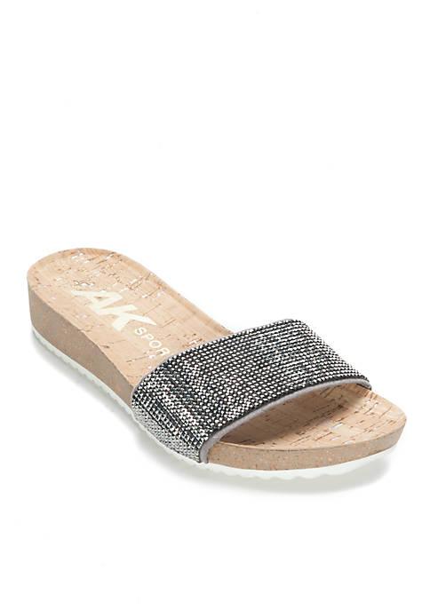 Anne Klein Qtee Footbed Slides