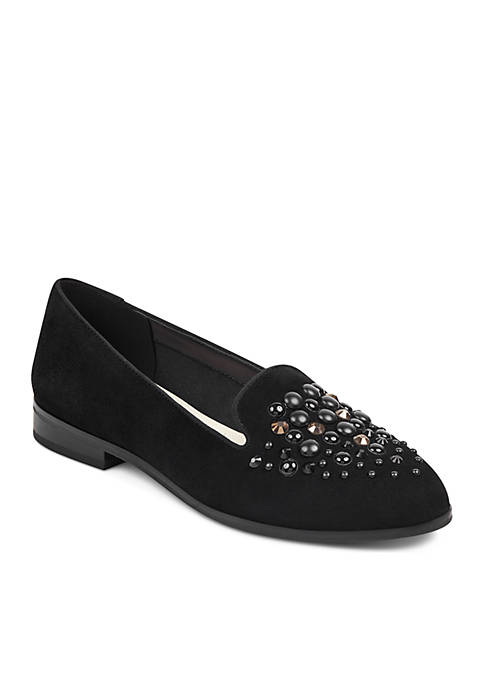 Anne Klein Della Embellished Smoking Slipper