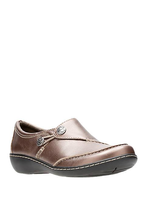 Clarks Ashland Lane Q Classic Slip On Shoes