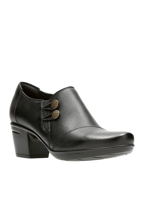 Clarks Emslie Warren Black Shoes