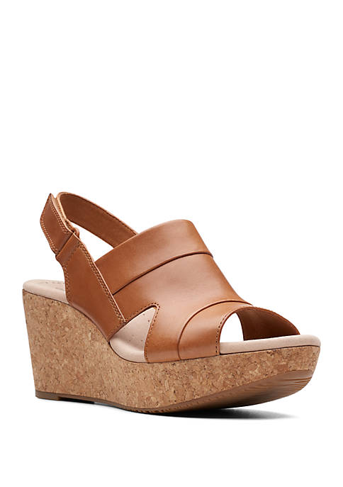Clarks Annadel Ivory Wedge Sandals