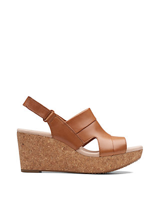 3c268fdbb94 ... Clarks Annadel Ivory Wedge Sandals ...