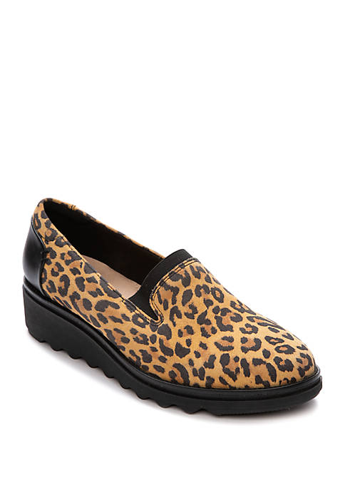 Clarks Sharon Dolly Leopard Faux Suede Shoes