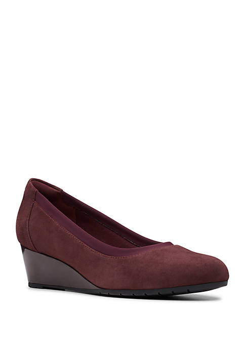 Mallory Suede Wedges