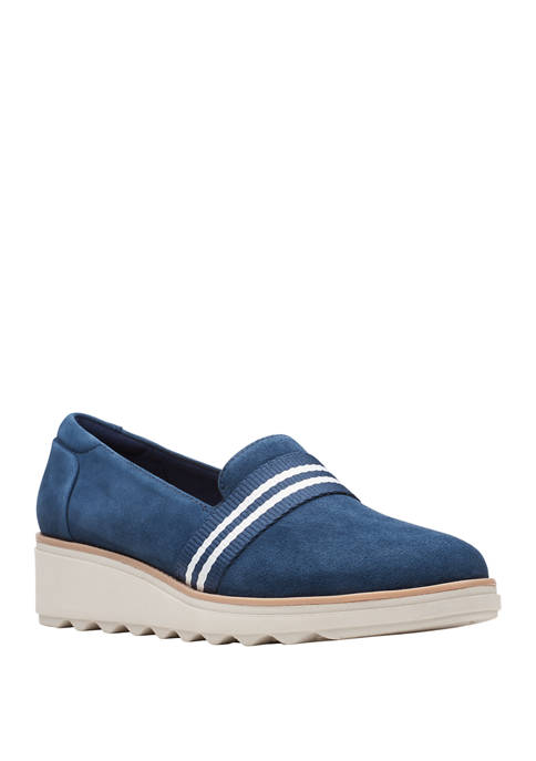 Clarks Sharon Wedge Loafers