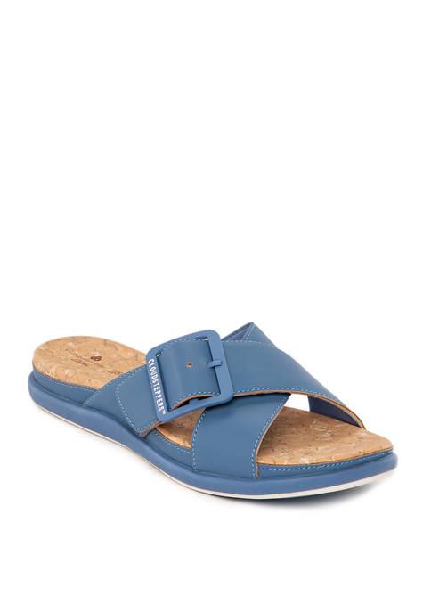 Clarks Step June Shell Sandals