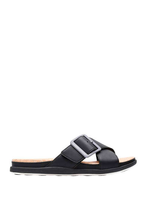 Clarks Step June Shell Slide Sandals