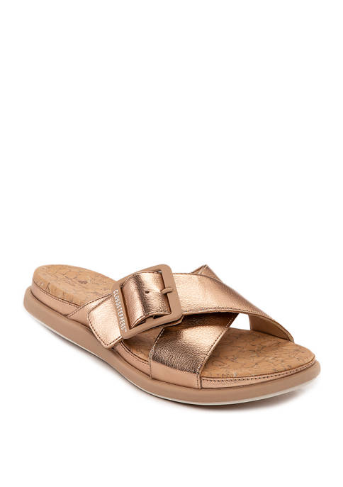 Clarks Step June Shell Sandals