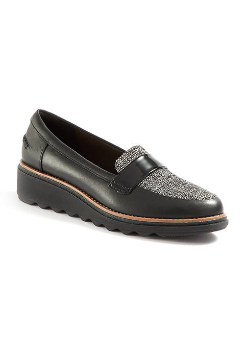 Clarks Tweed Loafers