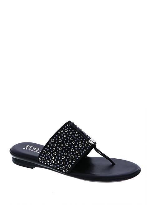Italian Shoemakers Afia Ornamented Thong Sandals