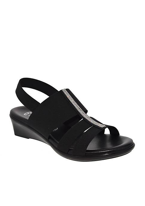 Cache Stretch Slingback Wedge Sandal