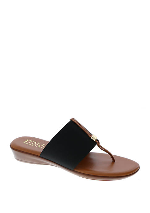 Italian Shoemakers Mikayla Wedge Thong Sandals