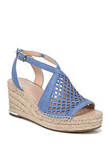 Franco Sarto Celestial Perforated Wedge Sandals