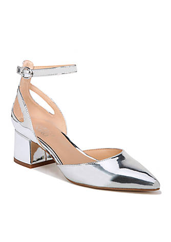 Franco Sarto Caleigh Block Heel Ankle Strap Pumps