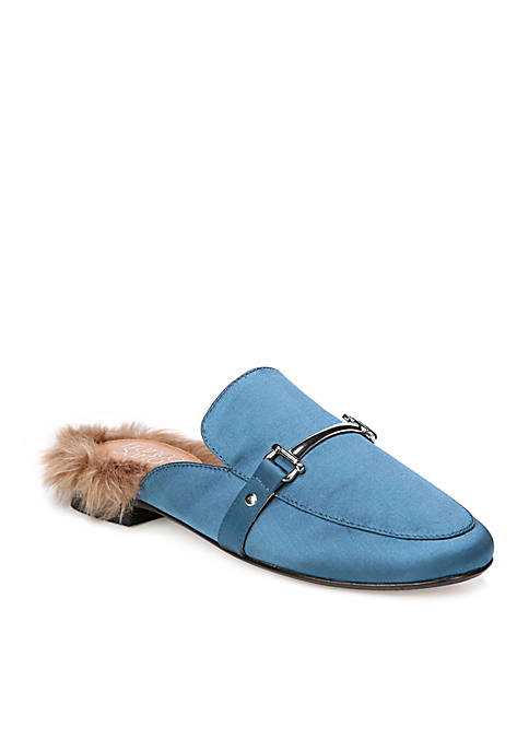 Franco Sarto Dalton Mule With Faux Fur Trim