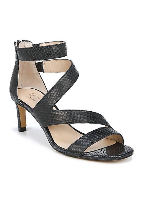 Franco Sarto Celia Strappy Mid Heel Sandal