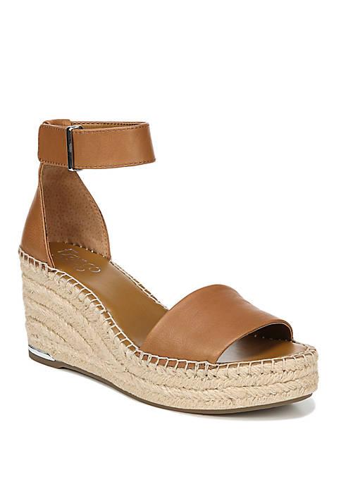 Franco Sarto Clemens Ankle Strap Wedge Sandal