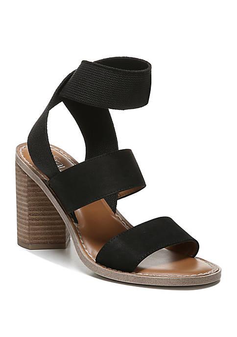 Franco Sarto Dear Elastic Strap Block Heels