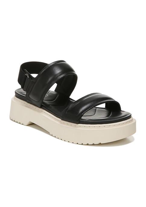 Winda Black Lugged Sandals