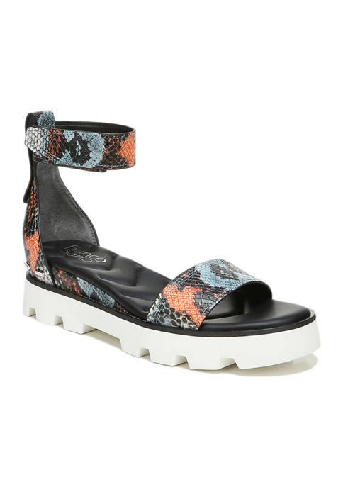 Franco Sarto Umbria Blue Multi Lugged Sandals