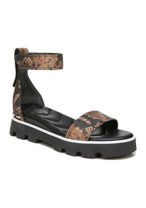 Franco Sarto Umbria Cognac Lugged Sandals